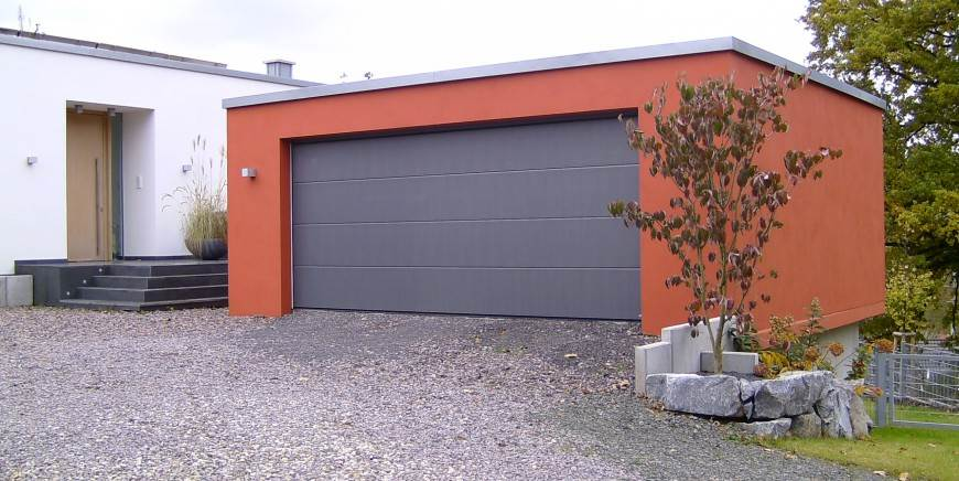 Garage double 1 porte par ibk france - Porte garage double ...